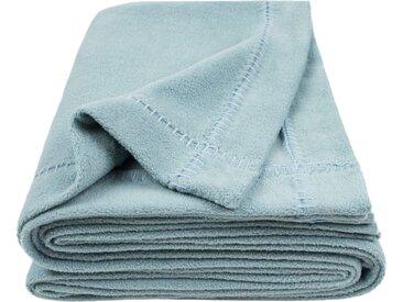 Wohndecke Soft-Greeny, zoeppritz 140x190 cm, Baumwolle-Polyester blau Baumwolldecken Decken Wohndecken