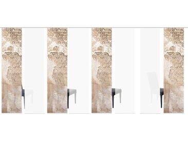 HOME WOHNIDEEN Schiebegardine WALLONA 8ER SET, HxB: 245x60 245 cm, Paneelwagen, 60 cm beige Wohnzimmergardinen Gardinen nach Räumen Vorhänge
