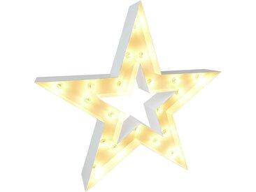 MARQUEE LIGHTS LED Dekolicht Stern, E14, 1 St., Warmweiß, Wandlampe, Tischlampe Star mit 20 festverbauten LEDs - 122cm Breit und hoch flg., Höhe: 122 cm, St. weiß Dekoleuchten Lampen Leuchten