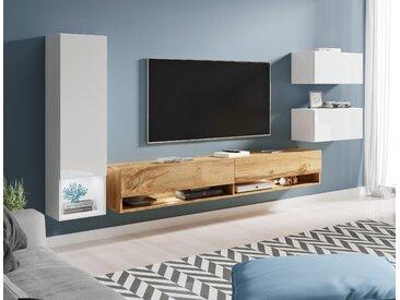 Wohnwand Amadeo (Set, 4-tlg) Einheitsgröße braun Wohnwände SOFORT LIEFERBARE Möbel Kastenmöbel-Sets