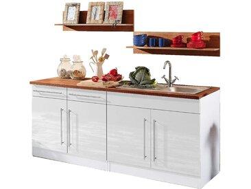 HELD MÖBEL Küchenzeile Keitum, ohne E-Geräte, Breite 200 cm Einheitsgröße weiß Küchenzeilen Geräte -blöcke Küchenmöbel Arbeitsmöbel-Sets