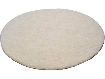 THEKO Wollteppich Amravati, rund, 28 mm Höhe, reine Wolle, echter Berber, handgeknüpft, Wohnzimmer 9 (Ø 150 cm), beige Schlafzimmerteppiche Teppiche nach Räumen