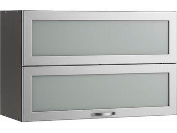 wiho Küchen Faltlifthängeschrank Flexi 90 x 56 35 (B H T) cm grau Hängeschränke Küchenschränke Küchenmöbel Schränke