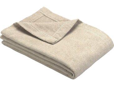 Wohndecke Valencia, IBENA 140x200 cm, Mischgewebe beige Baumwolldecken Decken Wohndecken