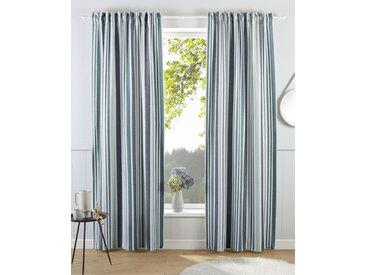 my home Gardine Stripe, Nachhaltig 245 cm, Multifunktionsband, 110 cm grün Blickdichte Vorhänge Gardinen