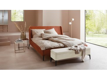 LeGer Home by Lena Gercke Bettbank Mayra, Inkl. Stauraum, frei im Raum stellbar B/H/T: 140 cm x 41 40 cm, Struktur beige Bettbänke Sitzbänke Stühle