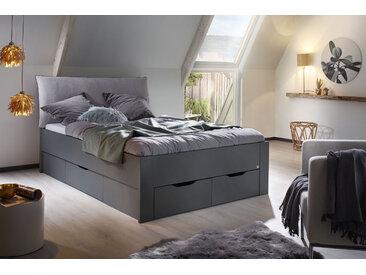 rauch ORANGE Stauraumbett Aditio, inklusive Kopfteil und Schubkästen 140x200 cm Höhe Bettseite: 50 cm, ohne Matratze grau Doppelbetten Betten