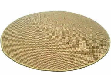 Living Line Sisalteppich Trumpf, rund, 6 mm Höhe, Obermaterial: 100% Sisal, Wohnzimmer Ø 300 cm, 1 St. grün Schlafzimmerteppiche Teppiche nach Räumen