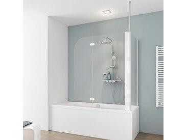 Schulte Badewannenfaltwand YOUNGLINE, teilgerahmt, BxTxH: 114,6 x 75 140 cm Einheitsgröße weiß Duschwände Duschen Bad Sanitär