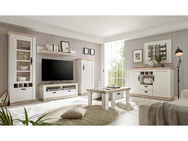 Home affaire Wohnwand Florenz 2, (Set, 4 tlg.), im romatischen Landhauslook Einheitsgröße weiß Moderne Wohnwände Wohnzimmer