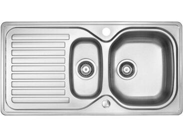 OPTIFIT Einbauwaschbecken Einheitsgröße silberfarben Küchenspülen Küche Ordnung