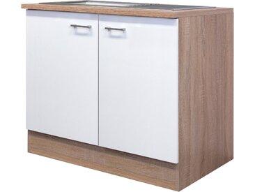 Flex-Well Spülenschrank Samoa, Breite 100 cm B/H/T: x 85 57 cm, 2 weiß Spülenschränke Küchenschränke Küchenmöbel