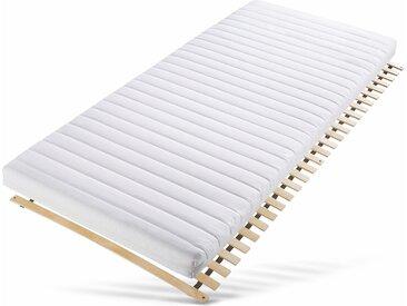 Traumecht Komfortschaummatratze + Rollrost Starter-Kit, (Set, 2-tlg.), clever: Matratze plus flexibel (0 kg -90 kg), B/H/L: 90 cm x 12 200 cm, 100 (ohne farbbezeichnung) Allergiker-Matratzen Matratzen