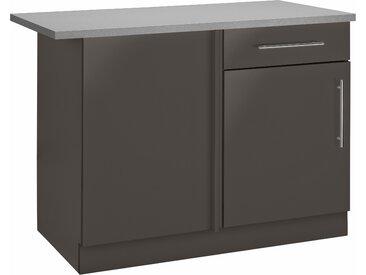 wiho Küchen Eckunterschrank Cali 110 x 85 60 (B H T) cm, 1-türig grau Unterschränke Küchenschränke Küchenmöbel Schränke