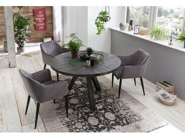 SIT Esstisch Tops&Tables, mit Massivholzplatte aus Mangoholz, runder Tisch Tischplatte: Massivholz, Gestell: Metall grau Esstische quadratisch Tische