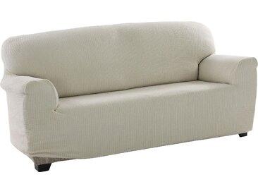 sofaskins Sofahusse Dario, mit leichtem Struktur-Effekt (3-Sitzer) beige Sofahussen Hussen Überwürfe