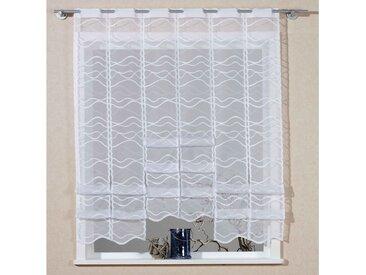 VHG Scheibengardine Bella 140 cm, Stangendurchzug, 60 cm weiß Wohnzimmergardinen Gardinen nach Räumen Vorhänge