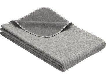 IBENA Wohndecke Lausanne, in Melange-Optik aus Bio-Baumwolle B/L: 70 cm x 100 grau Baumwolldecken Decken