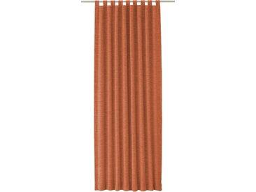 Vorhang, Trondheim 328 g/m², Wirth, Schlaufen 1 Stück 16, H/B: 255/270 cm, blickdicht / energiesparend, rot Blickdichte Vorhänge Gardinen Gardine