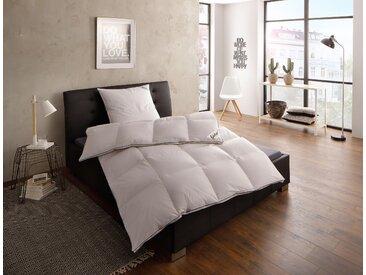 Gänsedaunenbettdecke, Franziska, fjödur, Füllung: 100% Gänsedaunen, Bezug: Baumwolle weiß, 240x220 cm weiß Daunendecke Bettdecken Bettdecken, Kopfkissen Unterbetten Bettdecke