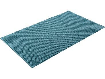 Home affaire Badematte Dalia, Höhe 4 mm, beidseitig nutzbar, Badgarnitur, 100% Baumwolle rechteckig (80 cm x 150 cm), 1 St. blau Einfarbige Badematten