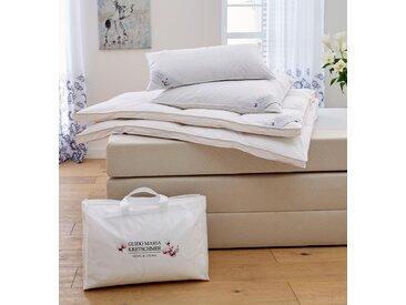 Guido Maria Kretschmer Home&Living Bettdecke + Kopfkissen Magnolia, (Spar-Set), Mit hochwertigen Gänsedaunen gefüllt weiß, 1x 155x220 cm 80x80 weiß Allergiker Bettdecken Bettdecken, Unterbetten Bettwaren-Sets