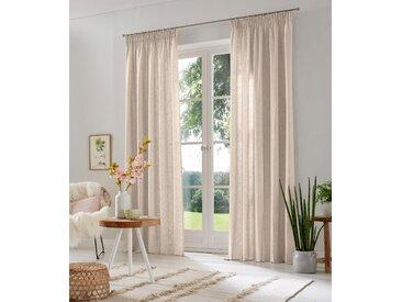 Vorhang, Lazy, Home affaire, Multifunktionsband 2 Stück 6, H/B: 295/135 cm, halbtransparent, beige Schlafzimmergardinen Gardinen nach Räumen Vorhänge Gardine