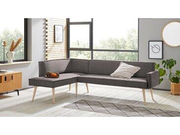 exxpo - sofa fashion Eckbank Lungo, Frei im Raum stellbar B/H/T: 158 cm x 84 239 cm, Webstoff, langer Schenkel rechts grau Eckbänke Sitzbänke Stühle