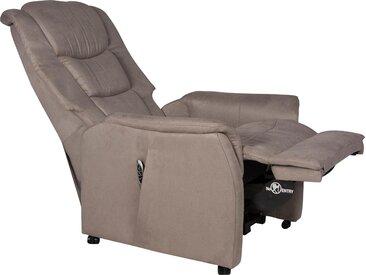 Duo Collection TV-Sessel Vicenza, Fernsehsessel mit Aufstehhilfe und easy matic Funktion Luxus-Microfaser, Aufstehhilfe, Federkern, Relaxfunktion, Wellenunterfederung grau Relaxsessel Sessel