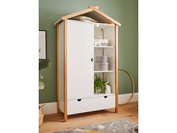 Lüttenhütt Kleiderschrank Dolidoo, für das Kinderzimmer B/H/T: 112 cm x 187 51 cm, 1 weiß Kinder Kindermöbel Nachhaltige Möbel