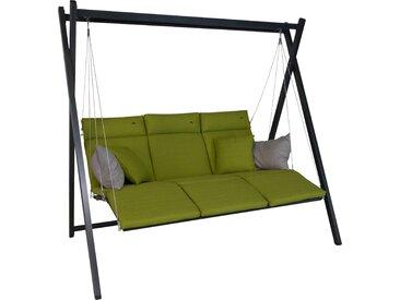 Angerer Freizeitmöbel Hollywoodschaukel Relax, inkl. Auflagen und Zierkissen Einheitsgröße grün Hollywoodschaukeln Gartenmöbel Gartendeko