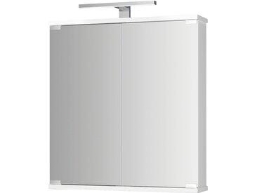 jokey Spiegelschrank Kandi, weiß, 60 cm Breite B/H/T: x 70,2 19 cm, 2 weiß Spiegelschränke mit Beleuchtung Badmöbel