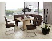 NIEHOFF SITZMÖBEL Säulen-Esstisch Pia, (Set), mit Auszugsfunktion, Breite 140 cm B/H/T: x 77 90 cm, Einlegeplatten beige Tische Sitzmöbel