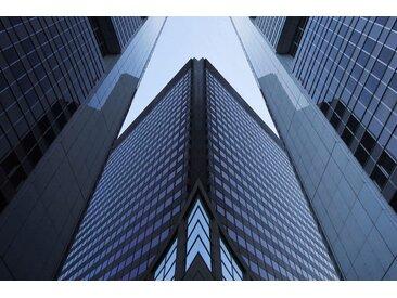 Places of Style Acrylglasbild Hochhäuser 150x100 cm, blau Acrylglasbilder Bilder Bilderrahmen Wohnaccessoires