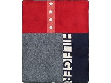 Plaid American Flag, TOMMY HILFIGER 150x200 cm, Mischgewebe grau Baumwolldecken Decken Wohndecken