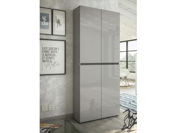 KITALY Schuhschrank Mister, Breite 80 cm, Höhe 200 4 Türen B/H/T: cm x 34 grau Schuhschränke Garderoben Nachhaltige Möbel