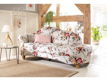 Home affaire Recamiere Mayfair, mit Blumenmuster, freistehend, wahlweise Armlehne links oder rechts Struktur, 202 cm, rosa Chaiselongues Recamieren Sofas Couches