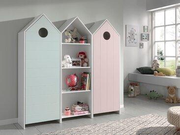 Vipack Jugendzimmer-Set Casami (Set, 3-tlg) Einheitsgröße bunt Kinder Komplett-Jugendzimmer Jugendmöbel Kindermöbel Schlafzimmermöbel-Sets
