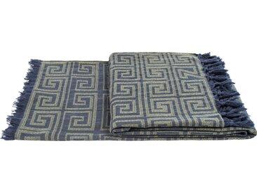 zoeppritz Wohndecke Sunny Leg, mit außergewöhnlichem Muster B/L: 150 cm x 200 grün Baumwolldecken Decken