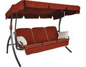 Angerer Freizeitmöbel Hollywoodschaukel Comfort Style, inkl. Auflagen und Zierkissen Einheitsgröße rot Hollywoodschaukeln Gartenmöbel Gartendeko