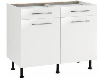 wiho Küchen Unterschrank Ela Einheitsgröße weiß Unterschränke Küchenschränke Küchenmöbel Schränke