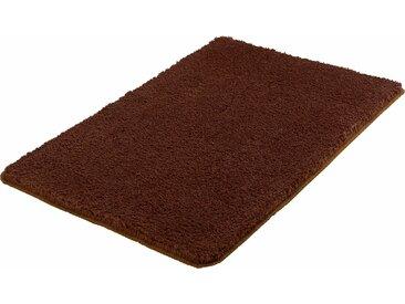 MEUSCH Badematte Super Soft, Höhe 23 mm, fußbodenheizungsgeeignet-strapazierfähig, rutschhemmender Rücken WC-Vorleger quadratisch mit Ausschnitt (50 cm x 50 cm), 1 St. braun Einfarbige Badematten