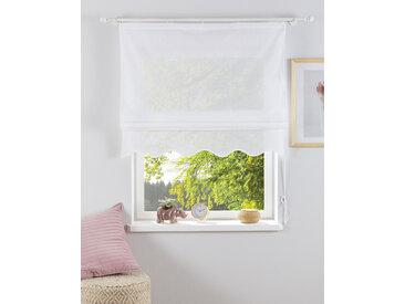 Home affaire Raffrollo Florenz, mit Klettband 140 cm, Klettband, cm weiß Blickdichte Vorhänge Gardinen