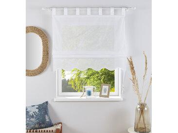 Home affaire Raffrollo Florenz, mit Schlaufen 140 cm, Schlaufen, cm weiß Blickdichte Vorhänge Gardinen