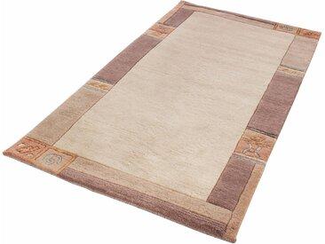Wollteppich, India, LUXOR living, rechteckig, Höhe 20 mm, manuell geknüpft 42, 140x200 cm, mm beige Teppiche