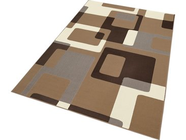 HANSE Home Teppich Retro, rechteckig, 9 mm Höhe, retro Design, Wohnzimmer B/L: 200 cm x 290 cm, 1 St. braun Esszimmerteppiche Teppiche nach Räumen