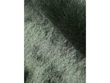 Hochflor-Teppich, Breeze, carpetfine, rund, Höhe 45 mm, handgetuftet (Ø 300 cm), mm grün Shaggy-Teppiche Hochflor-Teppiche Teppiche