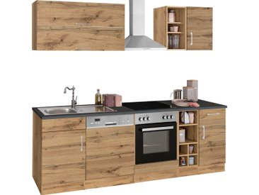 HELD MÖBEL Küchenzeile Colmar, ohne E-Geräte, Breite 240 cm B: braun Küchenzeilen Geräte -blöcke Küchenmöbel