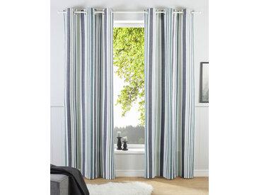 my home Gardine Stripe, Nachhaltig 245 cm, Ösen, 110 cm grün Blickdichte Vorhänge Gardinen