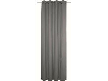 Vorhang, WirthNatur, Wirth, Ösen 1 Stück 5, H/B: 260/130 cm, blickdicht / energiesparend, grau Blickdichte Vorhänge Gardinen Gardine